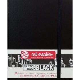 Sketchbook hojas negras