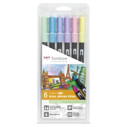 Set Tombow 6 Pastel Color
