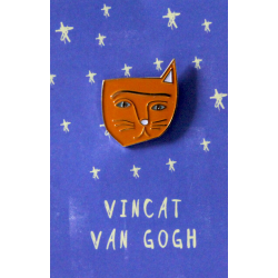 NI Vincent Van Gogh Cat Pin