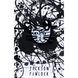 NI Jackson Pollock Cat Pin