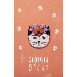NI Georgia O'Cat Pin