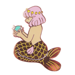 HE Pastel mermaid Pin
