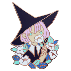 HE Floral Witch Pin