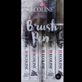 Set Ecoline Brush Pen 5 Grises