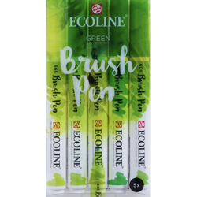 Set Ecoline Brush Pen 5 Green