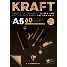 Kraft Marrón y Negro A5
