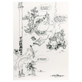 Bloc esbozo Astérix A4 90g