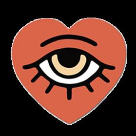 Heart pegatina