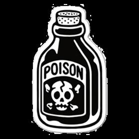 Poison pegatina