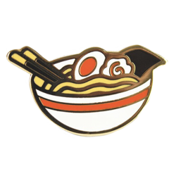 YS White Ramen Bowl Pin