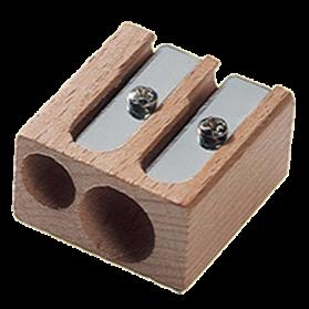 Sacapuntas M+R doble de madera