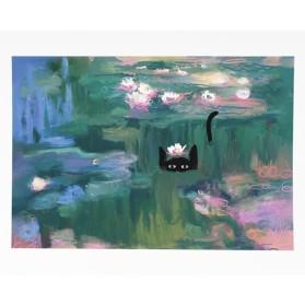NI Waterlilies Cat