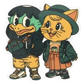 Daisy and Kyuka pegatina