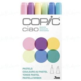 Sets 6 colores pastel Copic...