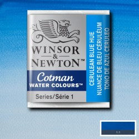 W&N 139 Cerulean blue pastilla