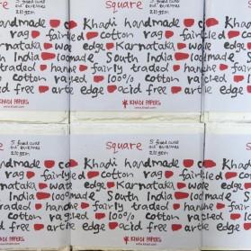 Khadi Tarjetas y sobres 8x8