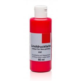 Tinta linóleo Rojo