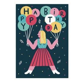 AS Happy birthday Postal