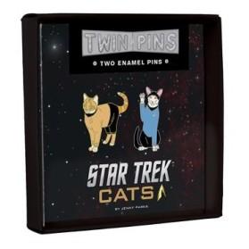 Twin Pins Star Trek Cats
