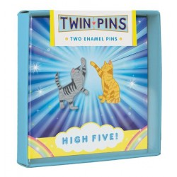 Twin Pins High Five Cats